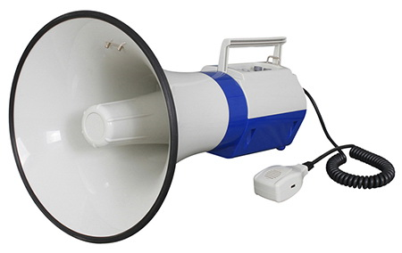 Megaphone with USB/SD/MIC/AUX/Wireless Microphone